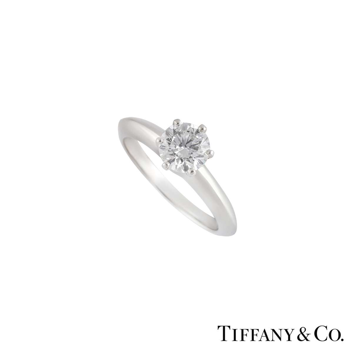 Tiffany & Co. Platinum Diamond Setting Band Ring 0.74ct I/VS2